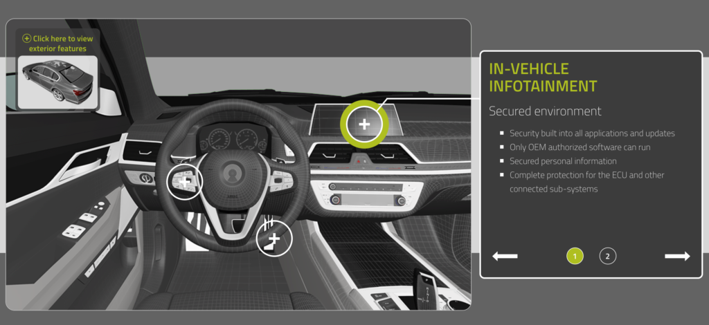 Infotainment area is getting more important to in-car security