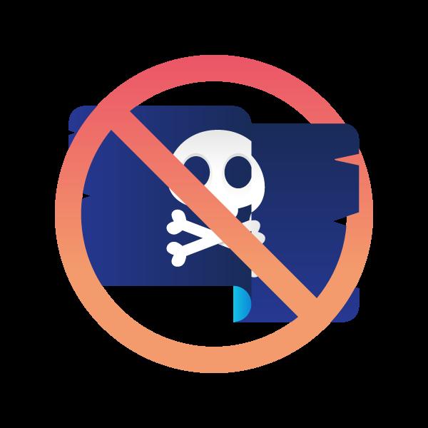 Anti piracy icon