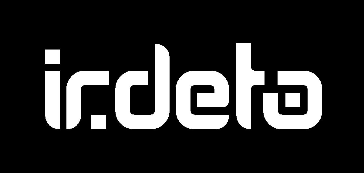 Irdeto white logo for site footer